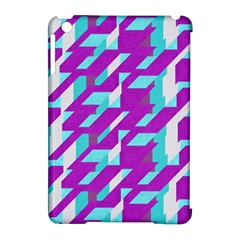 Fabric Textile Texture Purple Aqua Apple Ipad Mini Hardshell Case (compatible With Smart Cover) by Nexatart