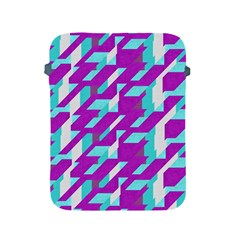 Fabric Textile Texture Purple Aqua Apple Ipad 2/3/4 Protective Soft Cases