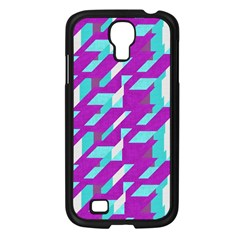 Fabric Textile Texture Purple Aqua Samsung Galaxy S4 I9500/ I9505 Case (black)