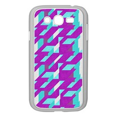 Fabric Textile Texture Purple Aqua Samsung Galaxy Grand Duos I9082 Case (white)