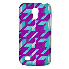 Fabric Textile Texture Purple Aqua Galaxy S4 Mini