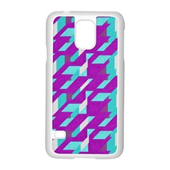 Fabric Textile Texture Purple Aqua Samsung Galaxy S5 Case (white)