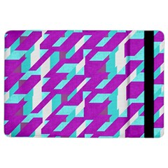 Fabric Textile Texture Purple Aqua Ipad Air 2 Flip
