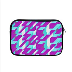 Fabric Textile Texture Purple Aqua Apple Macbook Pro 15  Zipper Case