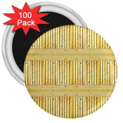 Wood Texture Grain Light Oak 3  Magnets (100 Pack)