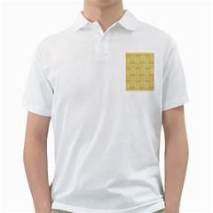 Wood Texture Grain Light Oak Golf Shirts