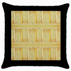 Wood Texture Grain Light Oak Throw Pillow Case (black)