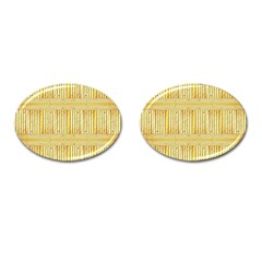 Wood Texture Grain Light Oak Cufflinks (oval)