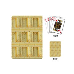 Wood Texture Grain Light Oak Playing Cards (mini)