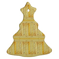Wood Texture Grain Light Oak Christmas Tree Ornament (two Sides)
