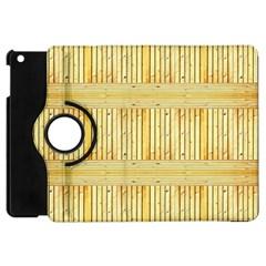 Wood Texture Grain Light Oak Apple Ipad Mini Flip 360 Case