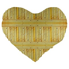Wood Texture Grain Light Oak Large 19  Premium Heart Shape Cushions