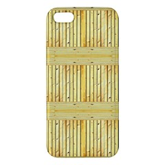 Wood Texture Grain Light Oak Apple Iphone 5 Premium Hardshell Case