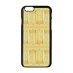 Wood Texture Grain Light Oak Apple Iphone 6/6s Black Enamel Case