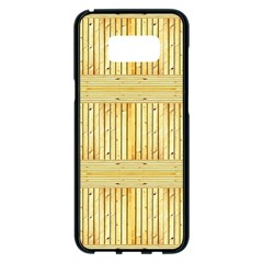 Wood Texture Grain Light Oak Samsung Galaxy S8 Plus Black Seamless Case
