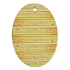 Wood Texture Background Light Ornament (oval)