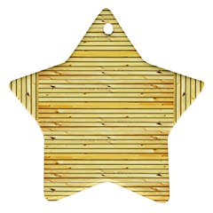 Wood Texture Background Light Ornament (star)