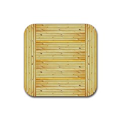 Wood Texture Background Light Rubber Square Coaster (4 Pack)  by Nexatart