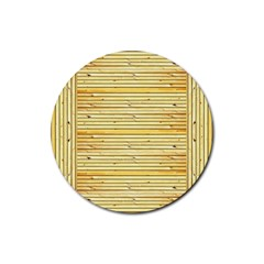 Wood Texture Background Light Rubber Round Coaster (4 Pack)  by Nexatart