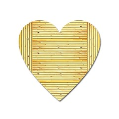 Wood Texture Background Light Heart Magnet