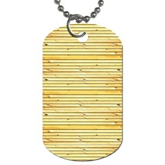Wood Texture Background Light Dog Tag (two Sides)