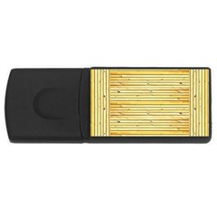 Wood Texture Background Light Rectangular Usb Flash Drive