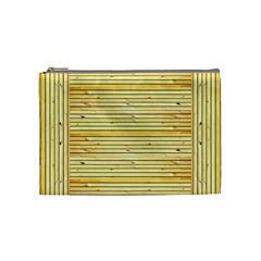 Wood Texture Background Light Cosmetic Bag (medium)