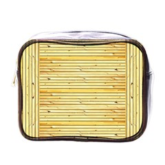 Wood Texture Background Light Mini Toiletries Bags