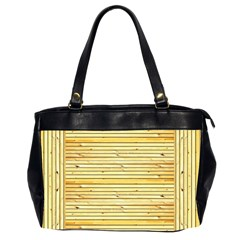 Wood Texture Background Light Office Handbags (2 Sides)