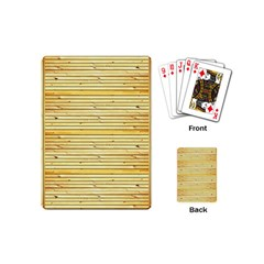 Wood Texture Background Light Playing Cards (mini)