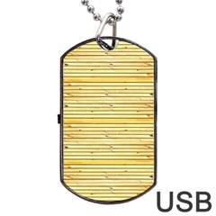 Wood Texture Background Light Dog Tag Usb Flash (two Sides)