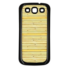 Wood Texture Background Light Samsung Galaxy S3 Back Case (black)