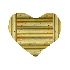 Wood Texture Background Light Standard 16  Premium Flano Heart Shape Cushions