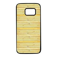 Wood Texture Background Light Samsung Galaxy S7 Black Seamless Case