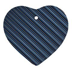Diagonal Stripes Pinstripes Ornament (heart)