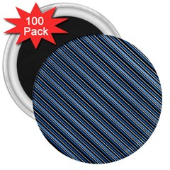 Diagonal Stripes Pinstripes 3  Magnets (100 Pack)