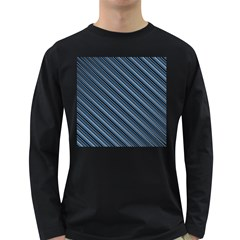 Diagonal Stripes Pinstripes Long Sleeve Dark T Shirts
