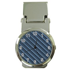Diagonal Stripes Pinstripes Money Clip Watches