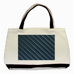 Diagonal Stripes Pinstripes Basic Tote Bag