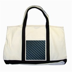 Diagonal Stripes Pinstripes Two Tone Tote Bag
