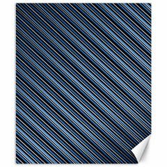 Diagonal Stripes Pinstripes Canvas 8  X 10