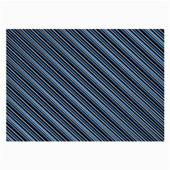 Diagonal Stripes Pinstripes Large Glasses Cloth