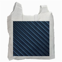 Diagonal Stripes Pinstripes Recycle Bag (one Side)