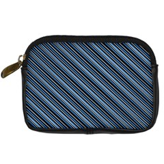 Diagonal Stripes Pinstripes Digital Camera Cases