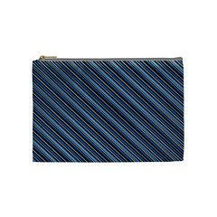 Diagonal Stripes Pinstripes Cosmetic Bag (medium)