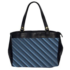 Diagonal Stripes Pinstripes Office Handbags (2 Sides)