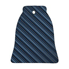 Diagonal Stripes Pinstripes Bell Ornament (two Sides)