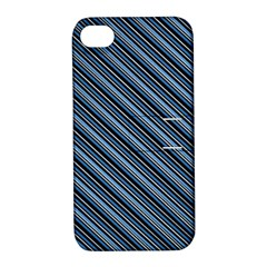 Diagonal Stripes Pinstripes Apple Iphone 4/4s Hardshell Case With Stand