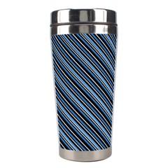 Diagonal Stripes Pinstripes Stainless Steel Travel Tumblers