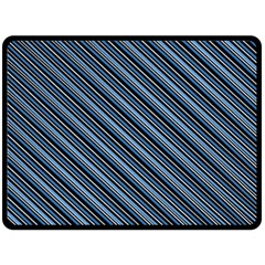 Diagonal Stripes Pinstripes Double Sided Fleece Blanket (large)